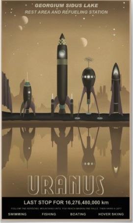 Uranus Rocket Poster