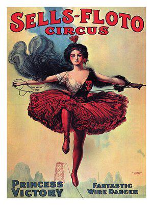princess victoria vinatge circus poster