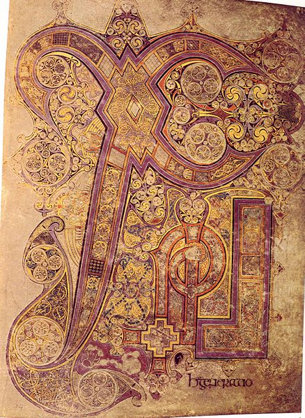 Chi Rho Monogram in the Book of Kells