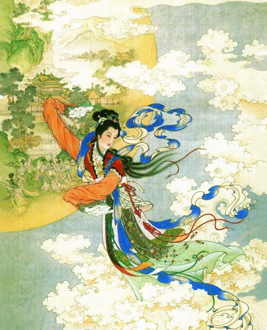 Goddess Chang'e of peace, love & harmony