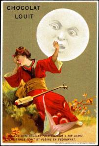vinatge art-ad, anthropomorphized, moon
