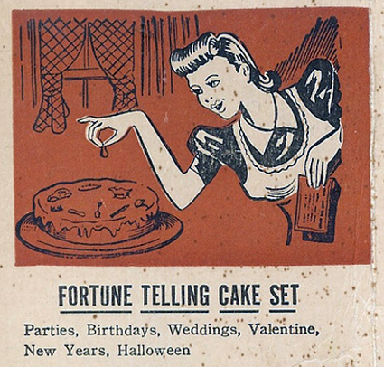 fortune telling cake