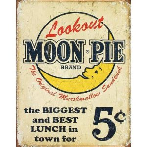 Lookout Moon Pie retro sign