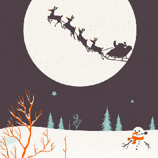 Christmas Moon Facebook Cover