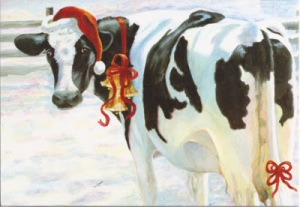 Christmas Cow Bell card