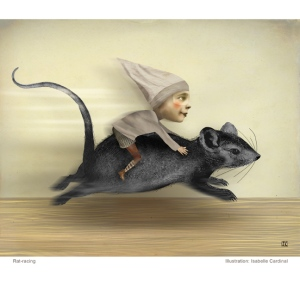 Rat race by artist Isabelle Cardinal