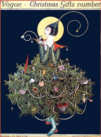 Vintage Vogue Deco Magazine Xmas Cover