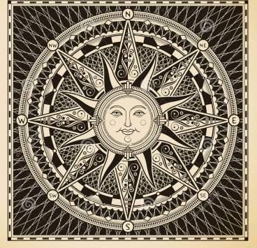 Sun Compass Rose