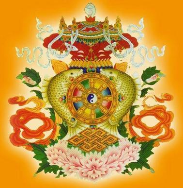 8 lucky treasures of the Buddha