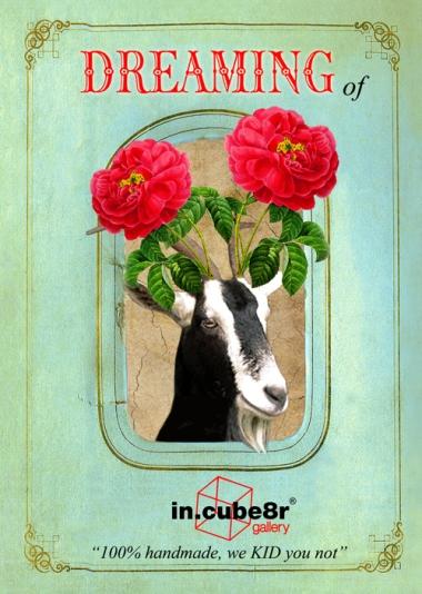 Goat Rose Postcard