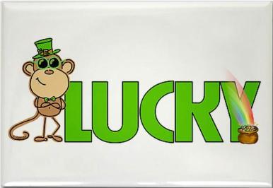Lucky Monkey magnet