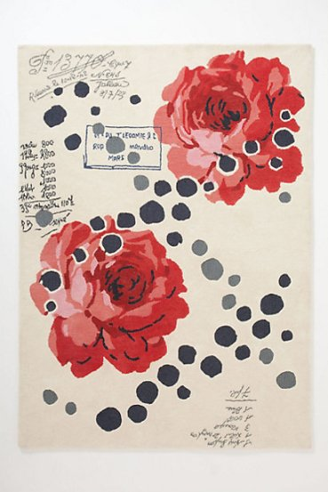 Rose Scroll rug