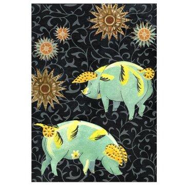 Night Sky Stars with Pigs