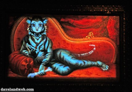 White Tiger lady in Disney Haunted House hall of portraits