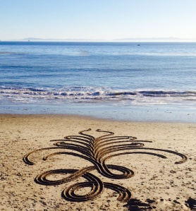 Sand Mural {photo by China Rose}