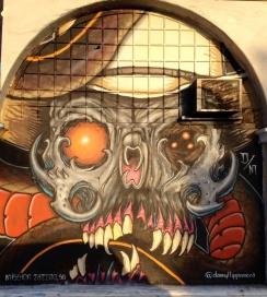 Skull | Mason St Murals {photo by China Rose