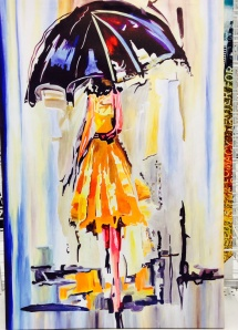 Umbrella & lady | contemporary art {photo by China Rose}