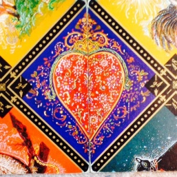 Russian Gypsy Fortune Telling heart ~ card