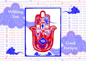 Wishing You Good a Fortune card by China Rose