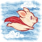 Flying Pig | in a cape