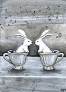 2 bunny cups