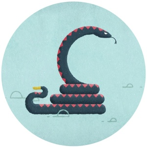 Folio snake art