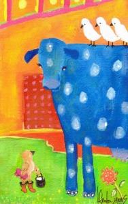 Bird and Cow by Cassandra Gordon-Harris