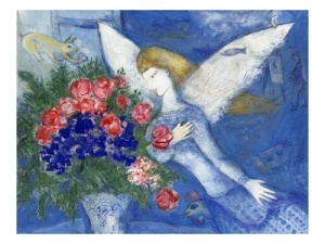 Blue Angel by Mark Chagall