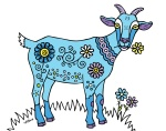 blue goat | Peggy Cline