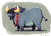 Holiday Blue Ox
