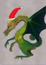 Holiday Dragon card