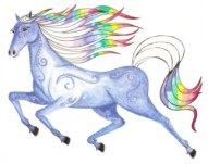 Cosmic Rainbow Horse