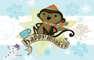 Happy Holiday Monkey
