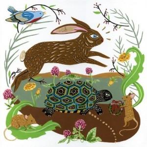 Holiday Hare print