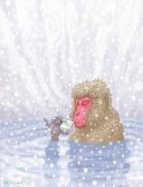Snow Monkey by Patrick McQuade