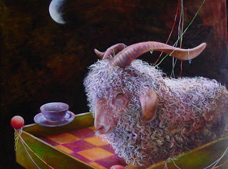 Blue Moon Goat by Wendy Vaughn
