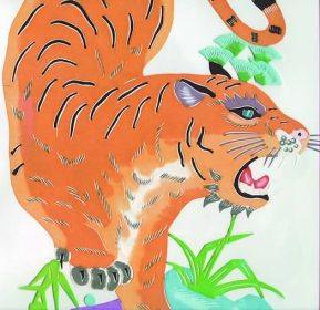 Manchurian Tiger | paper-cut