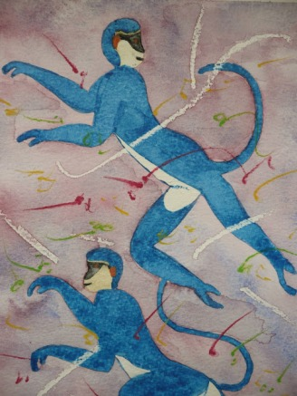 the Blue Monkey of Akrotiri