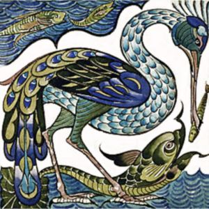 William de Morgan Stork tile