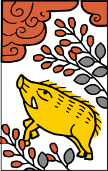 Hanafuda Boar