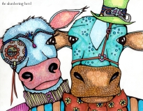 Steampunk Cow Duo