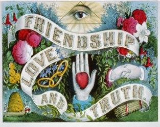 Masonic Love & Friendship | vintage goth poster