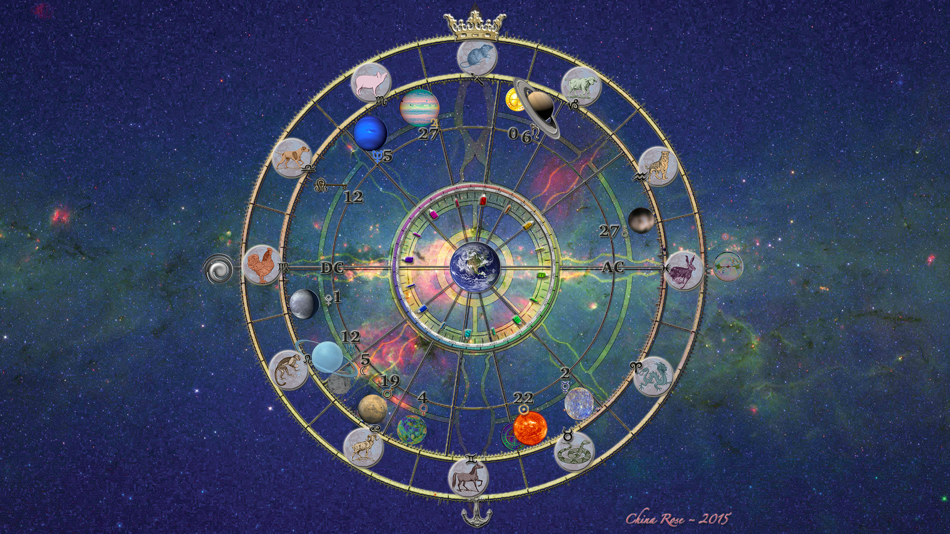 Cosmic Fortune Wheel | celestial portrait
