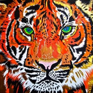 Tiger Pop Art