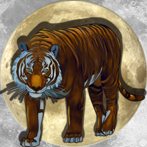Lucky Moon Tiger | China Rose