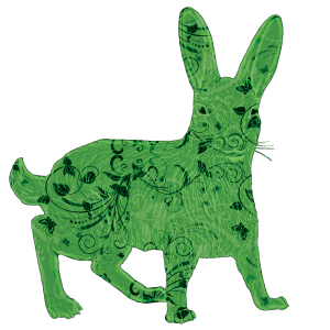 Lucky Green Hare | China Rose