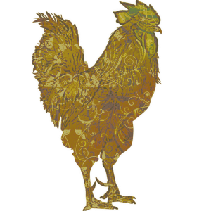 Lucky Gold Rooster | China Rose