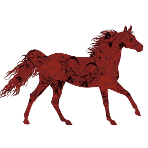 Lucky Red Horse | China Rose