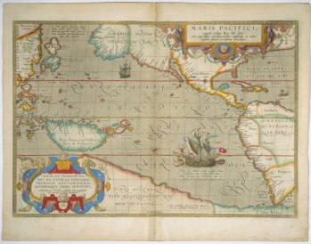 Map of Pacific | circa 1590