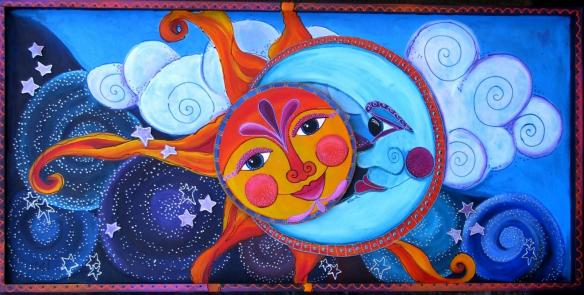 Romlins | moon sun sky